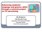 Enhancing students  language and generic skills through a network project on TV advertising