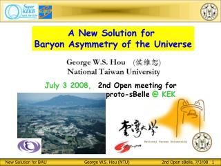A New Solution for  Baryon Asymmetry of the Universe