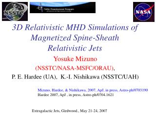 3D Relativistic MHD Simulations of Magnetized Spine-Sheath Relativistic Jets
