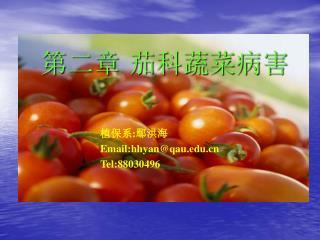 第二章 茄科蔬菜病害
