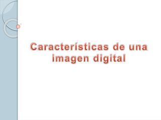 Caracter sticas de una imagen digital