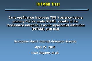 INTAMI Trial