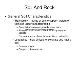 Soil And Rock