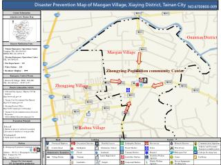 Disaster Prevention Map of Maogan Village, Xiaying District, Tainan City