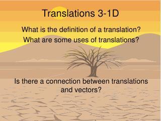 Translations 3-1D