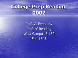 College Prep Reading  0002