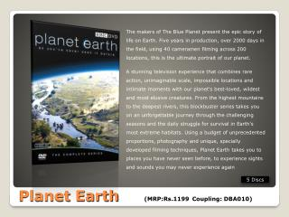 Planet Earth	   (MRP:Rs.1199	Coupling: DBA010)