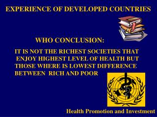 Health Promotion and Investment