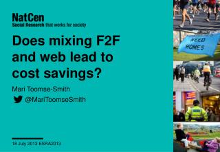 Does mixing F2F and web lead to cost savings?