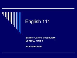 English 111