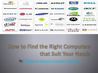 How to Find the Right Computers that Suit Your Needs