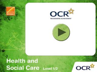 OCR Cambridge National in Health and Social Care (Level 1/2)