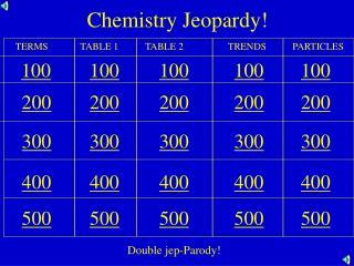 Chemistry Jeopardy!