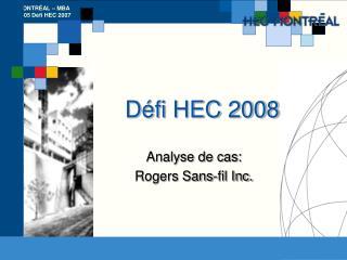Défi HEC 2008