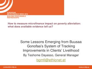 How to measure microfinance impact on poverty alleviation: what does available evidence tell us?
