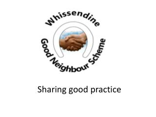 Sharing good practice