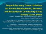 Beyond the Ivory Tower: Solutions for Faculty Development, Research and Education in Community-based Tertiary Care Cente