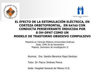 Alumna:  Dra. Sandra Berenice Raya Santoyo Tutor: Dr. Fiacro Jiménez Ponce
