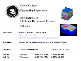 Calvin College	  Engineering Department