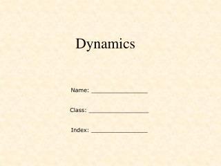 Name: ________________ Class: _________________ Index: ________________