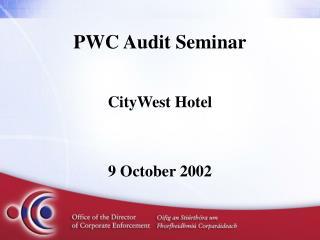 PWC Audit Seminar