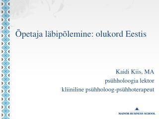 Õpetaja läbipõlemine: olukord Eestis