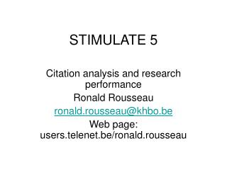 STIMULATE 5