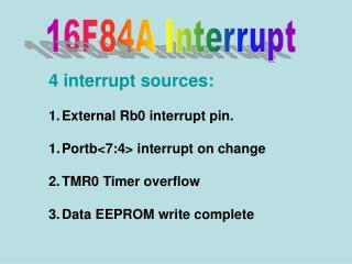 16F84A Interrupt