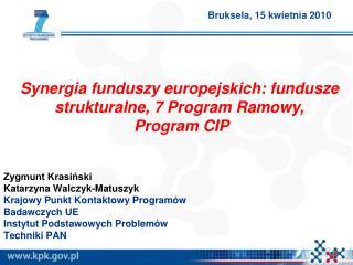 Zygmunt Krasiński Katarzyna Walczyk-Matuszyk Krajowy Punkt Kontaktowy Programów Badawczych UE