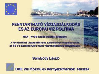 BME Vízi Közmű és Környezetmérnöki Tanszék