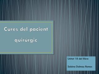 Cures del pacient quirúrgic