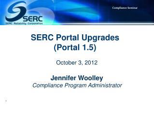 SERC Portal Upgrades (Portal 1.5)