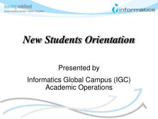New Students Orientation