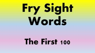 Fry Sight Words The First 100