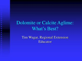 Dolomite or Calcite Aglime: What's Best?