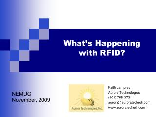 What s Happening with RFID