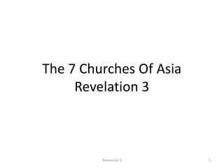 The 7 Churches Of Asia Revelation 3