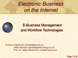 Electronic Business  on the Internet