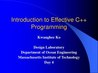 Introduction to Effective C++ Programming