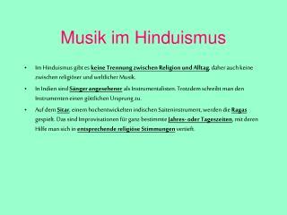 Musik im Hinduismus
