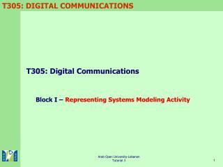T305: Digital Communications