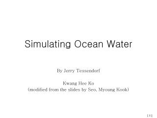 Simulating Ocean Water