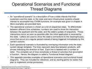 Operational Scenarios and Functional Thread Diagrams