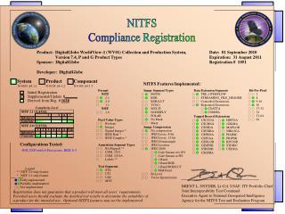 NITFS Compliance Registration