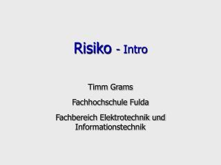 Risiko  - Intro