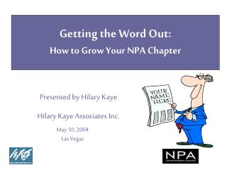 Getting the Word Out:  How to Grow Your NPA Chapter