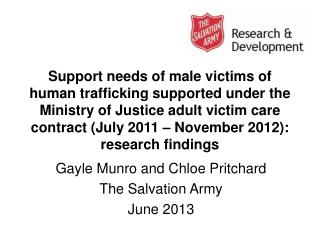 Gayle Munro and Chloe Pritchard The Salvation Army June 2013