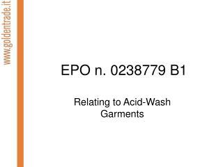 EPO n. 0238779 B1