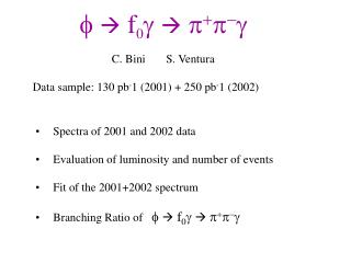 Data sample: 130 pb - 1 (2001) + 250 pb - 1 (2002)