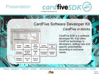 CardFive Software Developer Kit CardFive in blocks